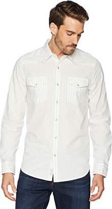 Lucky Brand Men's Casual Long Sleeve Dobby Button Down Western Shirt
