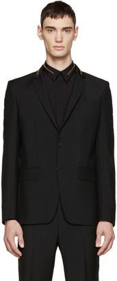 Givenchy Black Wool Zippered Blazer $1,350 thestylecure.com