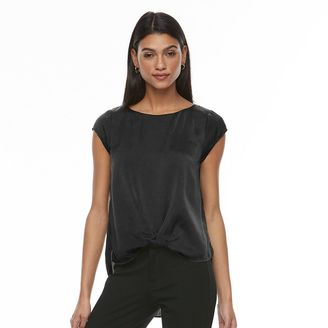 Women's Apt. 9® Satin Twist-Front Tee $36 thestylecure.com