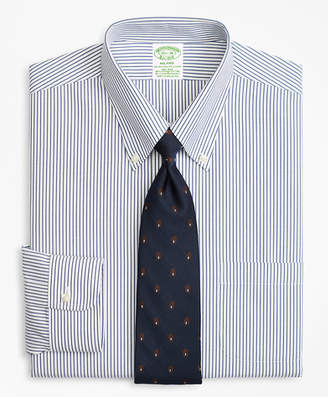 Brooks Brothers Stretch Milano Slim-Fit Dress Shirt, Non-Iron Pencil Stripe