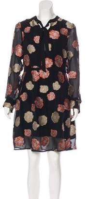 Nicole Miller Long Sleeve Knee-Length Dress