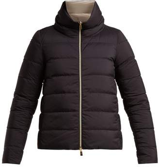 Herno Nuage Reversible Quilted Down Jacket - Womens - Navy Multi