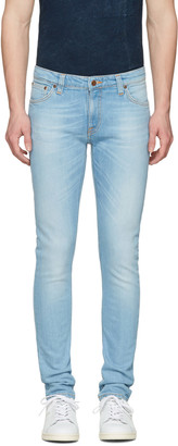 Nudie Jeans Blue Skinny Lin Jeans $210 thestylecure.com