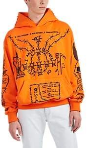Warren Lotas Men's Sabata Cotton Terry Oversized Hoodie - Orange