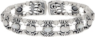 Carolyn Pollack Natural Beauty Sterling Silver Gemstone Cuff