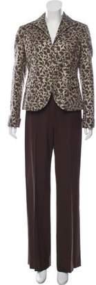 Lafayette 148 Wool Mid-Rise Wide-Leg Pants Set w/ Tags