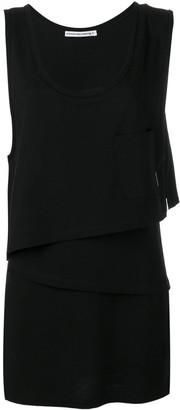 Alexander Wang asymmetric layered shirt dress