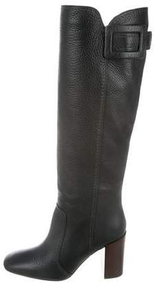 Roger Vivier Leather Knee-High Boots w/ Tags