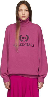 Balenciaga Pink Cashmere Turtleneck