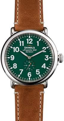 Shinola The Runwell Brown & Green Dial Watch, 47mm