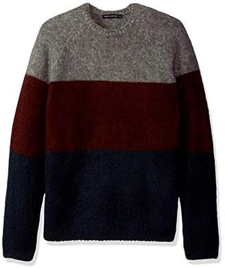 French Connection Men's Block Mohair Stripe