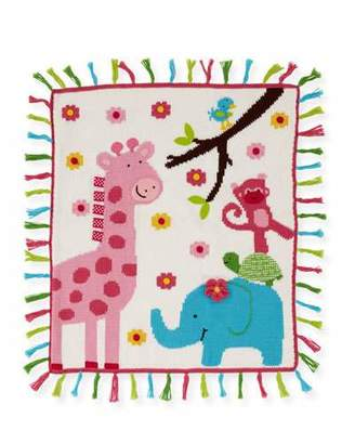 Artwalk Art Walk Kids' Jungle Mania Tassel Blanket