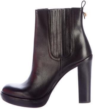 Tory Burch Tory Burch Troy Leather Ankle Boots