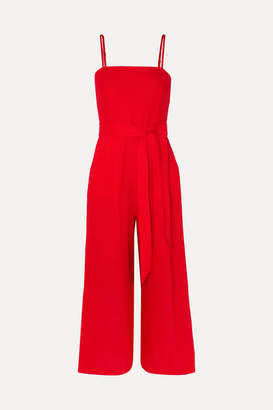 J.Crew Marseille Belted Linen Jumpsuit - Red