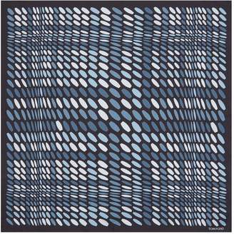Tom Ford Abstract Print Silk Pocket Square