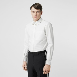 Burberry Classic Fit Detachable Collar Cotton Shirt