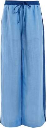 Diane von Furstenberg Wide-leg linen-blend trousers
