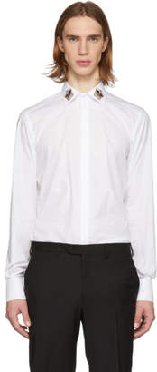 Dolce & Gabbana White Crown Martini Fit Shirt