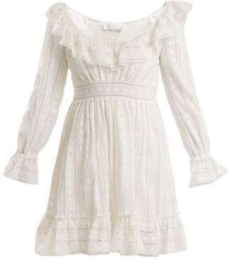 Zimmermann Melody Ladder Lace Dress - Womens - Ivory