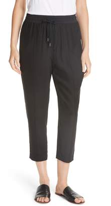 ATM Anthony Thomas Melillo Silk Charmeuse Pull-On Crop Pants