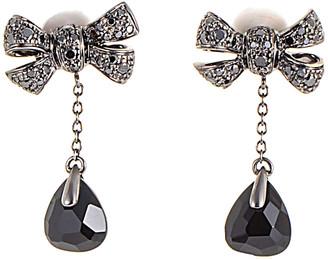 Pomellato 18K 0.64 Ct. Tw. Diamond & Onyx Drop Earrings