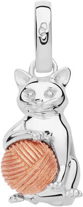 Links of London Sterling Silver & Rose Gold Vermeil Larry the Cat Charm