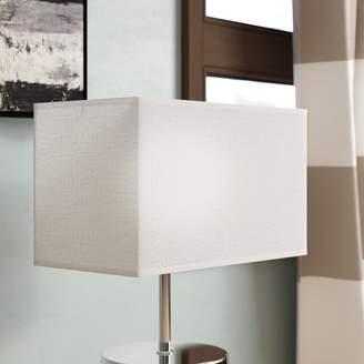 "Co Darby Home Geometric Premium 18.5"" Linen Rectangular Lamp Shade"