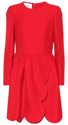 Valentino Scalloped silk and wool dress