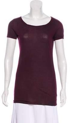 Avant Toi Short Sleeve Scoop-Neck T-Shirt