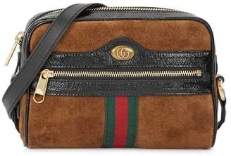 Gucci Ophidia Brown Suede Cross-body Bag