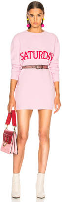 Alberta Ferretti Saturday Crewneck Sweater Dress in Light Pink & Pink | FWRD