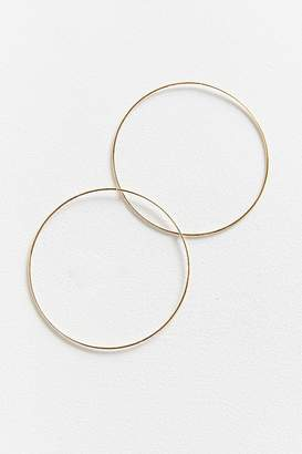 Urban Outfitters 18k Gold + Sterling Silver Plated Large Hoop Earring