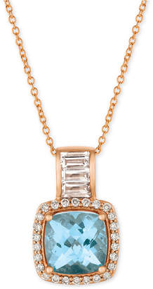"LeVian Le Vian Multi-Gemstone (2 ct. t.w.) & Diamond (1/5 ct. t.w.) 18"" Pendant Necklace in 14k Rose Gold"