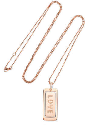 Diane Kordas Real Love 18-karat Rose Gold Diamond Necklace