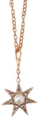 Selim Mouzannar - 18kt Rose Gold, Emerald, Diamond And Ruby Necklace - Womens - Red