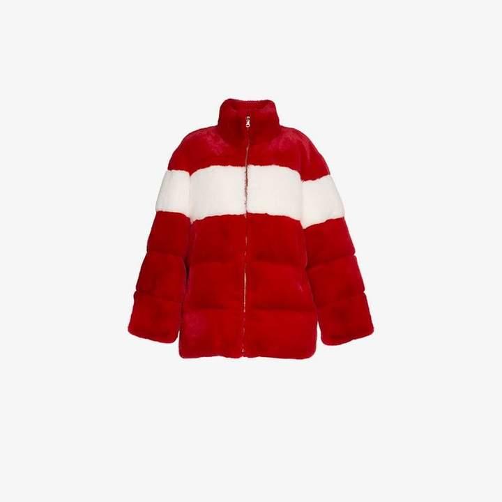 Pushbutton PushBUTTON oversized stripe coat