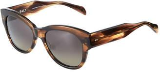 Salt Hammen Round Transparent Acetate Sunglasses