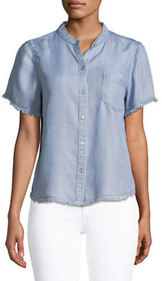 Vince Camuto Frayed Button-Down Shirt