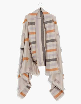 Madewell Fringe-Stripe Jacquard Scarf