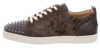 Christian Louboutin Spike Accent Camo Low-Top Sneakers