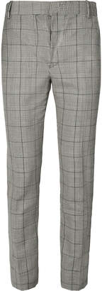 Alexander McQueen Prince of Wales Checked Wool and Mohair-Blend Suit Trousers