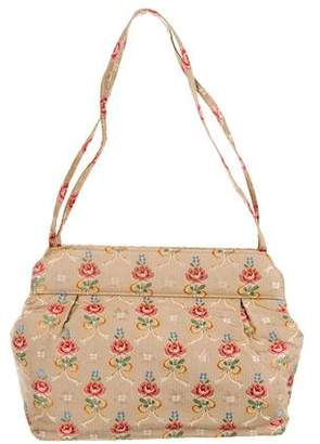 Lulu Guinness Embroidered Woven Bag