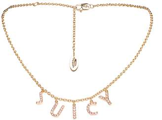 Juicy Couture Pave Juicy Charm Luxe Wishes Necklace