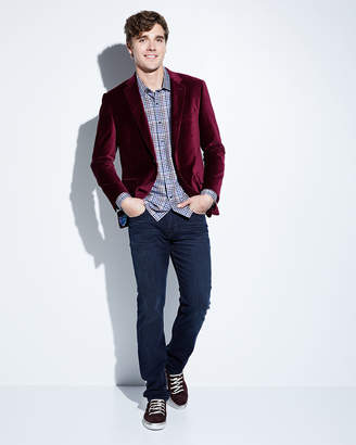 Neiman Marcus Men's Velvet Two-Button Blazer