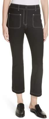 Derek Lam 10 Crosby Patch Pocket Crop Flare Jeans