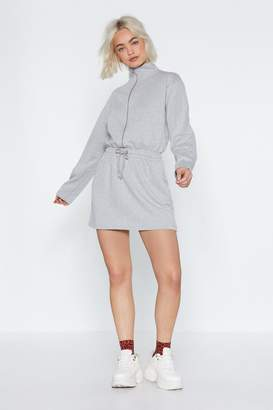 Nasty Gal Zip 'Em into Shape Sweatshirt Dress