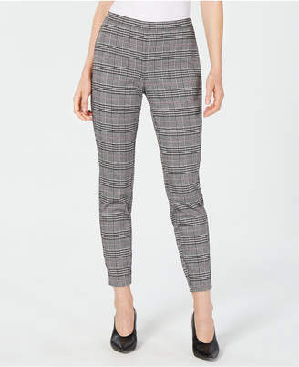 Maison Jules Menswear Plaid Ankle Pants
