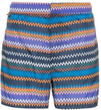 Missoni Mare zig-zag stripe print swim shorts