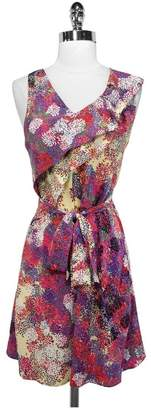 Ali Ro Floral Print Ruffle Tie Waist Silk Dress $47.39 thestylecure.com