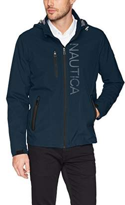 Nautica Men's Hooded Jacket with Logo